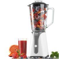 Cuisine Edition Standmixer weiß, Mixer mit 1 Liter Glaskrug, Smoothie-Maker, Blender, IceCrusher, 350 Watt
