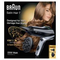 Braun Satin Hair 7 HD 730 Haartrockner (Föhn/Fön) mit IONTEC Technologie (inklusive 2 Aufsätze)