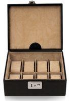 Windrose Beluga Uhrenbox 19,5 cm Leder