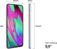 Samsung Smartphone Galaxy A40 15cm (5,9 Zoll), 4GB RAM, 64GB Speicher, Farbe: Weiß