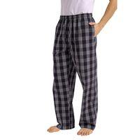 Mode Herren Casual Plaid Loose Sport Plaid Pyjamahose Hose Größe:L,Farbe:Grau