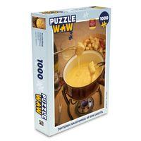 Puzzle 1000 Teile - Schweizer Käsefondue auf einem Gasherd