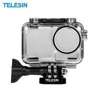 TELESIN 40m / 131ft Sport Kamera Unterwassergehäuse Schutz Tauchen Gehäuse Shell Cover Unterwasser Fotografie Zubehör für DJI OSMO Action Kamera