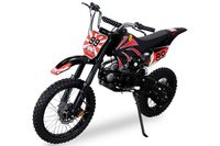 Kinder Jugend Enduro Crossbike 125 cc 4 Takt Motorcrossbike Motorrad Cross (Schwarz)