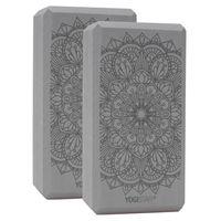 Yogablock yogiblock basic Art Collection - lotus mandala - graphit (2 Stück)