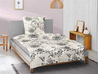 Irisette Biber Bettwäsche 2 teilig Bettbezug 155 x 200 cm Kopfkissenbezug 80 x 80 cm Feel 8204-11 grau