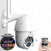 GUUDGO 10LED 5X Zoom HD Kamera 2MP IP Überwachungskamera WiFi Wireless 1080P PTZ im Freien Wasserdicht Nachtsicht ONVIF - EU-Stecker