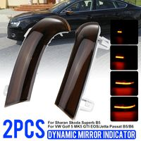 1 Paar Dynamische LED Blinker Spiegelblinker Spiegel für VW Golf V VI Jetta