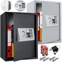 KESSER® Elektronischer Safe Tresor Geldschrank Wandtresor Wandsafe 50x35x34,5, Farbe:Schwarz