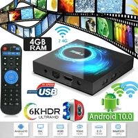 T95 Android 10.0 4+64G Quad Core 6K HD Smart TV BOX WIFI Netzwerk Media Player