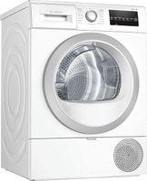 Bosch WTR87440 Freistehender Wärmepumpentrockner, Frontlader, +, Kondensations, 176 kWh/Jahr, 8 kg Fassungsvermögen, 64 dB Geräuschemissionen, 59,8 cm Breite, Startzeitvorwahl