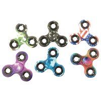 10 x Fidget Finger Hand Spinner Camouflage und bunte Optik - hochwertiges Kugellager - Mix aus verschiedenen Farben - 10er Pack