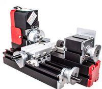 Topchances Mini DIY Drehmaschine Multifunktionale Fräsmaschinen Sägemaschine Schleifer Bohrer Drehbank 100-240V 24W 20000rev/min