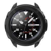 Armor Schutzuhrgehäuse Scale Ring Schutzhülle in Schwarz für Samsung Galaxy watch3  45mm Uhr