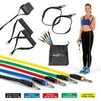Fitnessbänder Gymnastikband Widerstandsbänder Fitnessband Expander Set 11tlg