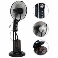 yocmall Sprühnebel-Standventilator mit 3 Geschwindigkeiten Schwarz