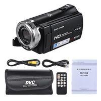 Andoer V12 1080P Full HD 16X Digital Zoom Aufnahme Videokamera Tragbarer Camcorder mit drehbarem 3,0 Zoll LCD Bildschirm max. 20 Megapixel unterstützen die Gesichtsverschönerung der Nachtsicht-Gesichtserkennung