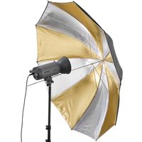 Walimex pro Reflexschirm Dual gold/silber,150cm