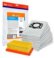 10 Staubsaugerbeutel + 1 Filter geeignet für Kärcher WD4 WD5 WD6 MV4 MV5 MV6 Ersatz  2.863-006.0