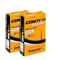 2x Continental Fahrrad Rennrad Schlauch Race 28 Zoll 18-25/622-630 SV 42mm