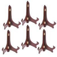 6 Stück Holz Telleraufsteller Tellerständer Tellerhalter Teller Display Staffelei Halter