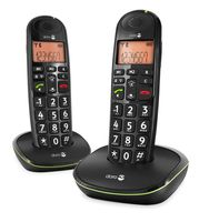 doro PhoneEasy 100w duo DECT Call identifier Black - Plug-Type C (EU)