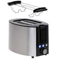 2 Scheiben Toaster Edelstahl Doppelt Toast Toastautomat Küchenzubehör inklusive