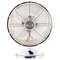 HKoenig JOE50 Tisch Ventilator Retro, Weiß