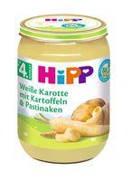 HiPP Gemüse nach dem 4.Monat, Weiße Karotte mit Kartoffeln und Pastinaken, DE-ÖKO-037 - 190g