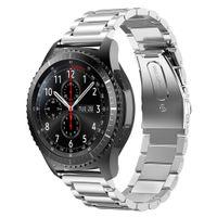 22mm Edelstahl Uhrenarmband Ersatzarmband für Samsung Galaxy Watch 3 45mm/Gear S3 Frontier/Classic/Galaxy Watch 46mm Silber