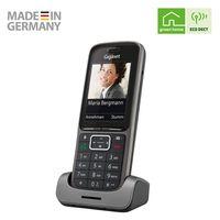 Gigaset Connect Schnurloses Telefon - Gigaset IP-Telefon Schnurlos mit Headsetanschluss - Router-Anbindung, anthrazit-grau