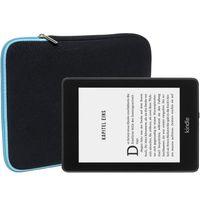 Slabo Tablet Tasche für Amazon Kindle Paperwhite (10. Generation- 2018) | Amazon Kindle (10. Generation - 2019) Hülle Case Neopren - TÜRKIS / SCHWARZ