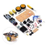 Smart Robot Car Assembly Kit Zwei Räder Intelligente Hindernisvermeidung Tracking Wireless BT Fernbedienung Kleinwagen Chassis DIY Kit Set