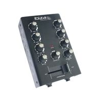 ibiza MIX500 2-Kanal-Mini-Mischpult Mixer 2-Band Equalizer schwarz