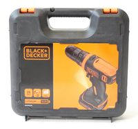 Black & Decker BDCDD12K1B Ultra-Kompakt Akku-Bohrschrauber 10.8V 2x Akkus Koffer
