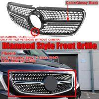 MECO Kühlergrill, Diamant Front Grill Kühlergrill für Mercedes V Klasse W447 V250 V260 2015-2020