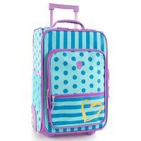 Heys trolley Dots & Stripes 20 Liter blau/lila