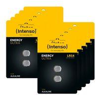 20 Intenso Energy Ultra LR54 / LR1130 / AG10 Alkaline Knopfzelle Batterien im 2er Blister