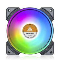 120mm RGB Gehäuselüfter PC Computer Gehäuse Lüfter FAN 42.18cfm 7 Blades Kühler