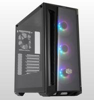 Cooler Master MasterBox MB520 ARGB - Midi Tower - PC - Kunststoff - Stahl - Gehärtetes Glas - Schwar