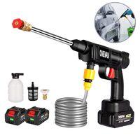 30Bar Autowäscher Akku-Hochdruckreiniger Waschpistole Hochdruckpistole for Makita 18V + 2 Batterien
