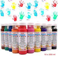 Fingermalfarbe 10er Set je 250 ml