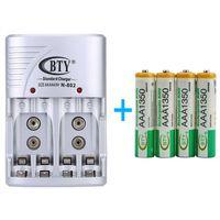 Universal Batterie Battery Akku Ladegerät Charger Netzteil Aufladegerät für AA AAA 9V + 4x AAA Akku