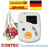 CONTEC TLC6000 Dynamischer 12-Kanal-48-Stunden-EKG-Holter-Monitorrekorder USB-PC-Software EKG-Analysator coloe OLED-Bildschirm