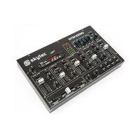 Skytec STM-2290 DJ-Mischpult DJ-Mischer FX 6-Kanal-Mixer mit Bluetooth USB-Port SD-Slot sowie Cinch- und Klinken-Eingängen (2-Band EQ, Metallgehäuse, MP3 kompatibel) Schwarz