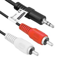 mumbi 3,5mm Klinke Stecker auf 2x Stereo-Cinch Chinch / 3m Kabel