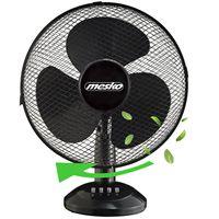 Mesko Tischventilator Ø40 cm 45 Watt | Ventilator | Rotation zuschaltbar | oszillierend | leiser Betrieb | Windmaschine | Luftkühler | geeignet für Büro, Schlafzimmer, Wohnzimmer