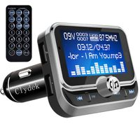 Bluetooth FM Transmitter,Universal FM Transmitter Radio Adapter Audio-Empfänger Car Kit mit Fernbedienung, Dual-USB-Ladegerät und Freisprechfunktion