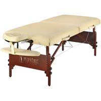 Master Massage 71cm Del Ray™ Mobile Massageliege Massagetisch Paket mit Klappbarem Holzgestell-Beige