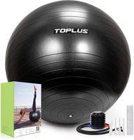 TOPLUS Gymnastikball Sitzball Extra dicker Sportball Yogaball (Büro & Hause & Fitnessstudio),85cm,schwarz